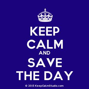 keep calm save the day